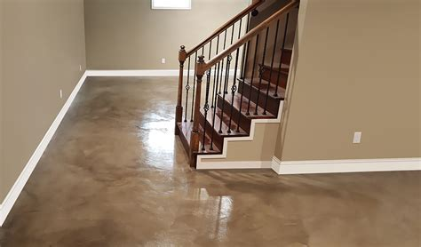 Stained Concrete Basement Floor   Concrete Craft