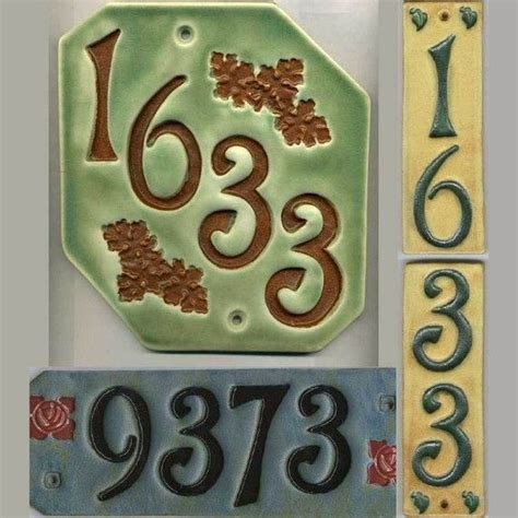 25 unique ceramic house numbers ideas on