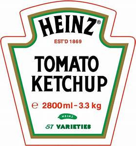 heinz tomato ketchup free vector in encapsulated With heinz label template
