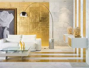 Glamorous interiors with golden touch