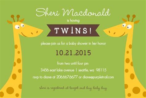twin baby shower invitations dolanpedia invitations template