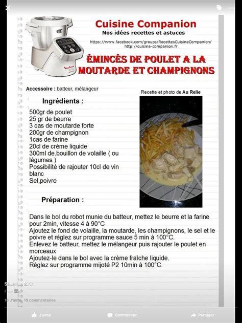 moulinex cuisine companion recettes 17 best images about companion recettes salées on