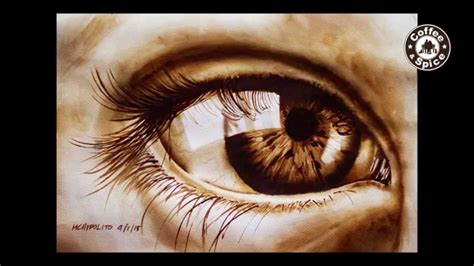 A watercolor is the medium or the resulting artwork in which the paints are made this medium of art is still very popular nowadays. Coffee Painting Tutorial: How to Paint a Realistic Eye by ...
