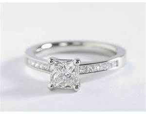 Princess cut diamond rings wedding promise diamond for Platinum princess cut wedding rings