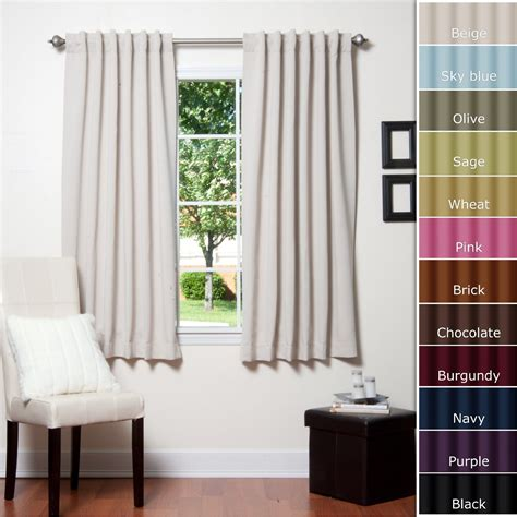 curtains ideas white blackout grommet curtain panels