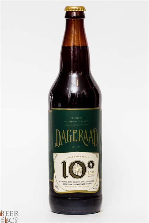 Beer Quad Dageraad Brewing Co 10 Degrees Belgian Quadrupel Beer