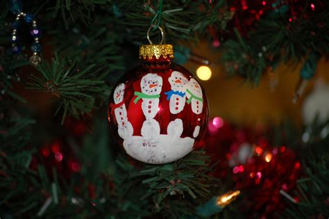 handprint snowmen ornament christmas pinterest