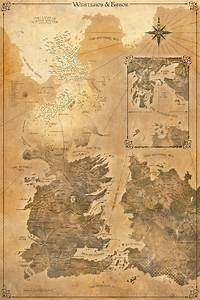 Game of Thrones Map - Westeros and Essos by FabledCreative ...