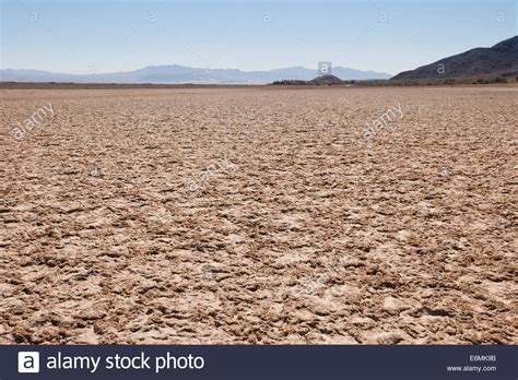 Dry Lake Bed In The American Southwest Desert Mojave