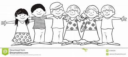 Friends Coloring Children Pages Childrens Friendship Dreamstime