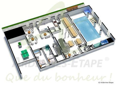 plan de chambre froide villa de luxe accès pmr avec piscine pour 48 pers à louer