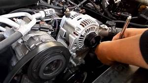 Remove Install Alternator Jeep Liberty 2007 Serpentine