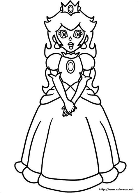coloriage princesse peach stylise  decouper