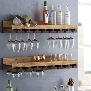 wall mounted liquor wine racks wine storage you 39 ll love wayfair