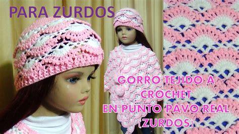 para zurdos gorro tejido a crochet para ni 241 as paso a paso tejido en punto pavo real y relieves