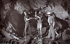 Rare early flash photography images of Cornish miners ...