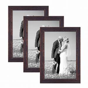Bilderrahmen Vintage Set : 3er set vintage bilderrahmen 30x45 cm holz dunkelbraun shabby chic massivholz mit glasscheibe ~ Buech-reservation.com Haus und Dekorationen