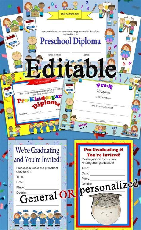 preschool diplomas certificates graduation invitations 530 | 562b1b325b0730962237c366e2e6a472 preschool plans preschool printables
