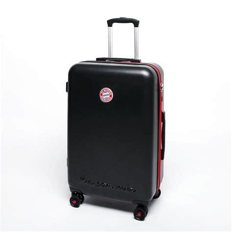 koffer kaufen münchen koffer de fu 223 bundesliga gep 228 ck und reise zubeh 246 r fc bayern m 252 nchen 4 rollen trolley l