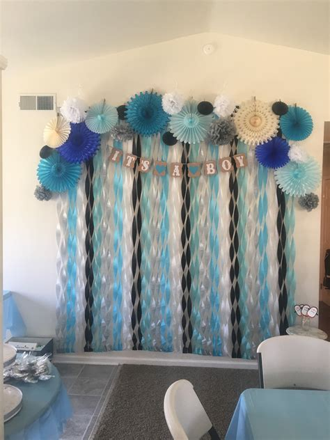 baby shower decoration for boy penguin themed baby shower photo backdrop penguin