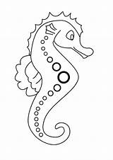 Seahorse Coloring Pages Print Horse Sea sketch template