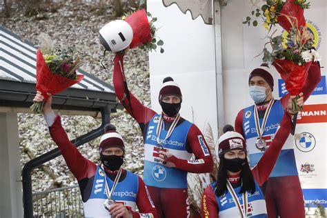 Latvijas kamaniņu braucēji Siguldā izcīna sudraba medaļu ...