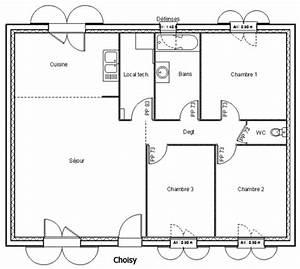 modele et plans choisy du constructeur maisons ldt With plan de maison 100m2 9 constructeur maisons bioclimatiqueskokoon constructeurs
