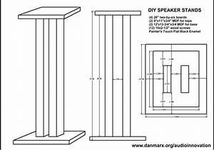 bookshelf speaker stand plans woodproject