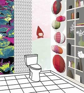 Papier Peint Pour Wc : d co wc hum 5 id es pour la d coration de toilettes ~ Nature-et-papiers.com Idées de Décoration