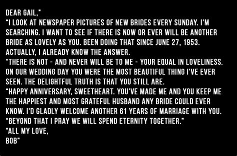 61 Years On From Their Wedding Day, A Husband Wrote One Of