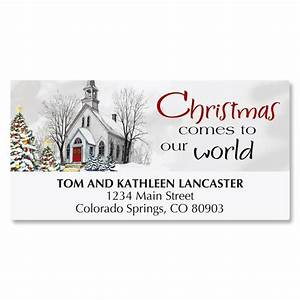 country church christmas address labels current catalog With current christmas labels
