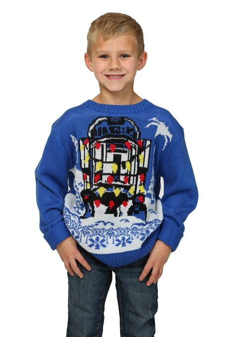 scary christmas sweaters star wars decorated r2d2 boys ugly christmas sweater