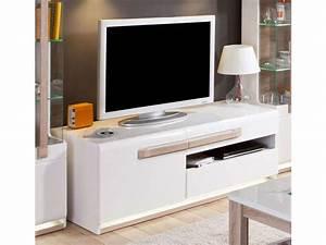 Meuble Salle à Manger Blanc : meuble tv 140 1 cm levi vente de meuble tv conforama ~ Teatrodelosmanantiales.com Idées de Décoration