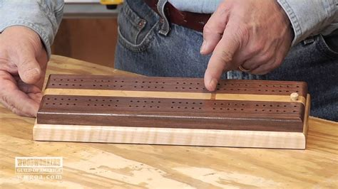 build  cribbage board youtube