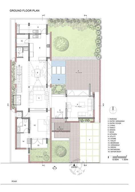 2828 ground floor plan gallery of brick house architecture paradigm 19