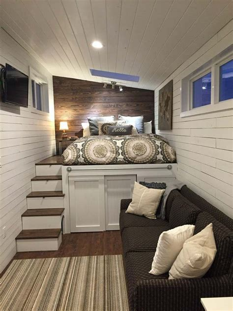 31546 tiny house bed ideas maison bois en 18 id 233 es d am 233 nagement fonctionnel