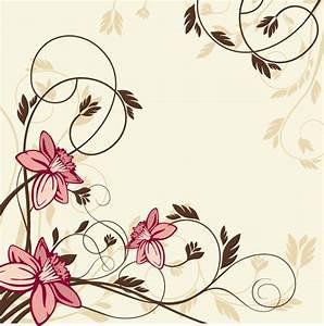 Simplistic swirling vintage floral background - Vecto2000 com