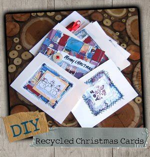 recycled christmas cards favecraftscom