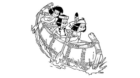 kika indianerkinder im boot