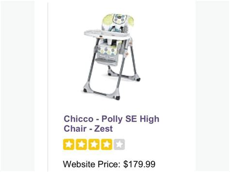 Chicco Polly High Chair Zest by Chicco Polly Zest High Chair Cobble Hill Cowichan