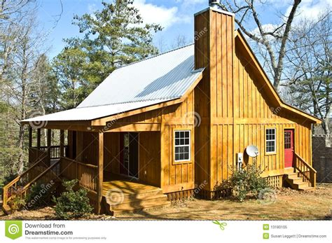wooden house  tin roof royalty  stock photo