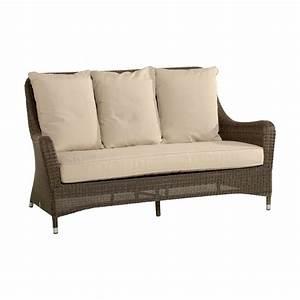 canape 2 places pour salon de jardin en resine tressee With tapis d entrée avec canapé en résine tressée