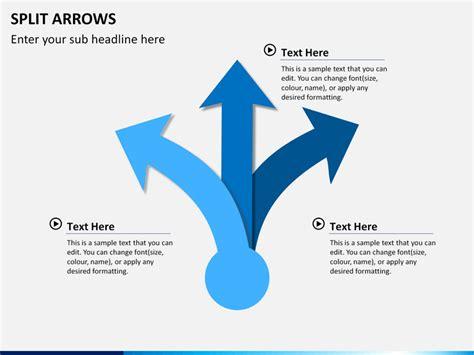 split arrows powerpoint sketchbubble