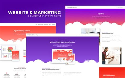 web marketing firm divi layout kits by geno quiroz