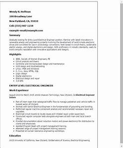 sample resume of an electrical engineer - professional entry level electrical engineer templates to