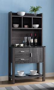 Fc, Design, Black, Faux, Marble, Top, Baker, U0026, 39, S, Rack, With, 2, Drawers, 4, Top, Inner, Storage, Shelves, And, 1