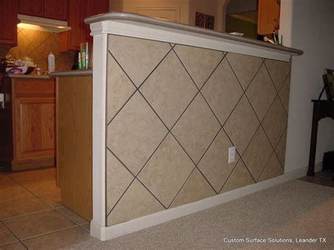 kitchen  bar kick space tile wall traditional