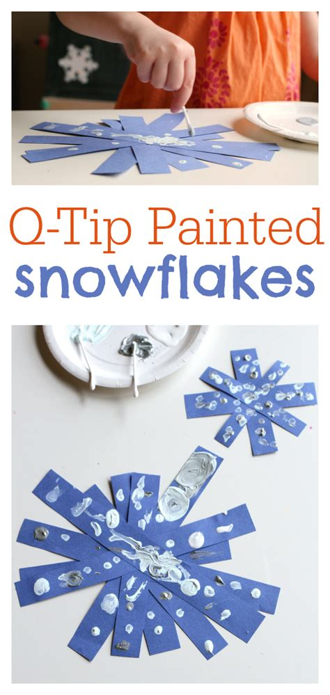 q tip painted snowflake crafts 502 | d4d8faef351b7f75be3ffb14dfe49c4d