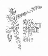 Cricket Coloring Cup Pages Print Printable Icc sketch template