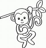 Coloring Monkey Printables Cartoon Adults Popular sketch template